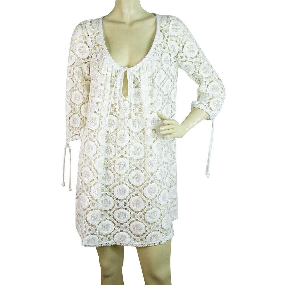 Milly Cabana Cotton Broderie White Kaftan Cover Up