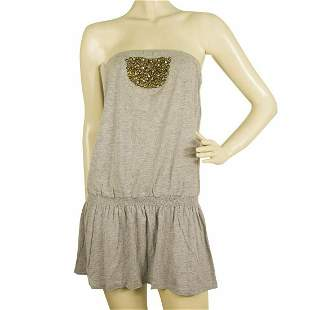 Urban by Pink Soda Gray Cotton Strapless Basic Casual