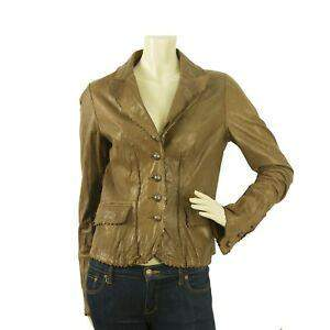 It Ochre Brown Genuine Real Leather Scalloped Bronze