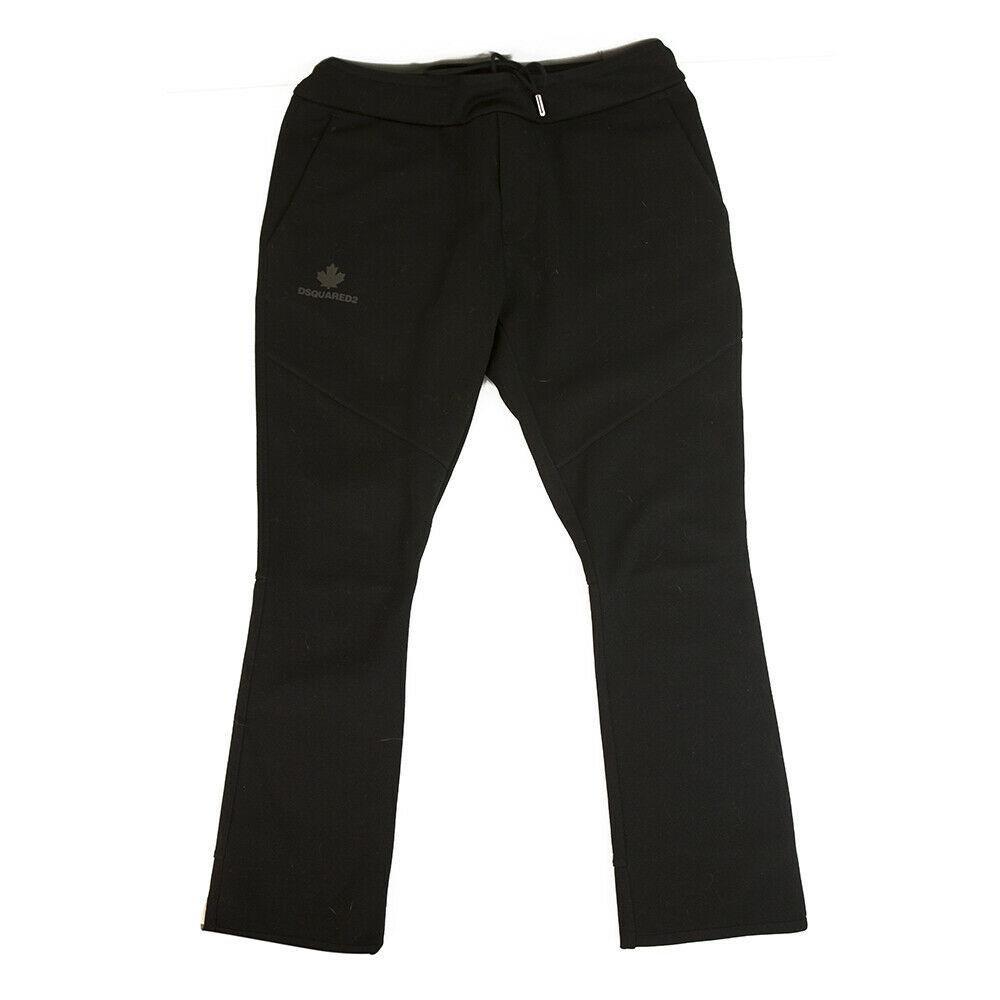 Dsquared 2 D2 Black Cotton jogger sweatpants trousers