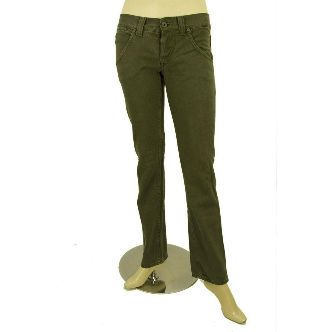 Dondup Olive Green Denim Jeans Slim Trousers Pants sz