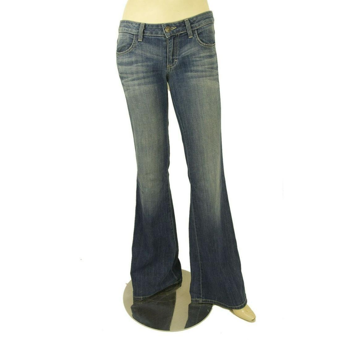 Siwy USA Anita Blue Washed Bootcut Boot Cut Jeans Denim