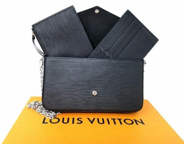 Louis Vuitton Felicie Epi Black Leather Cross Body Bag