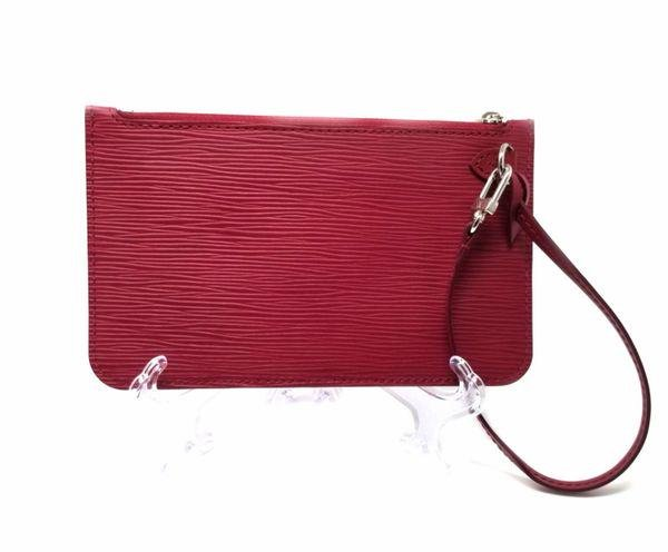 Louis Vuitton Epi Leather Red Neverfull Pochette Pouch