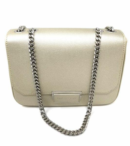 Charles and Keith Champagne Cross Body Front Flap