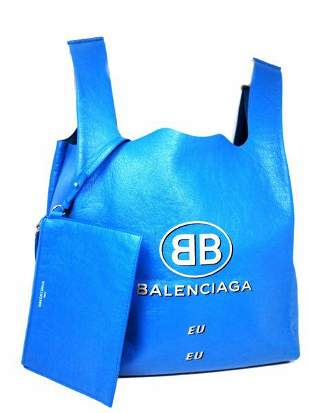 Balenciaga Supermarket Shopper M Sky Blue Lambskin