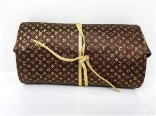 Louis Vuitton Rare Folding Jewelry Case Monogram Silk