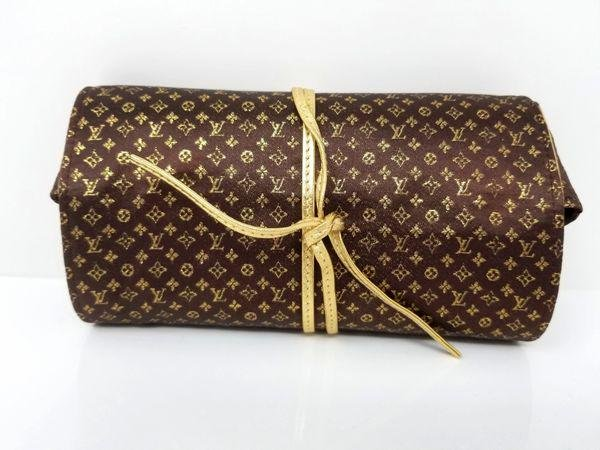 Louis Vuitton Rare Folding Jewelry Case Monogram Silk
