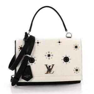 Louis Vuitton LockMe Embellished Leather Shoulder Bag