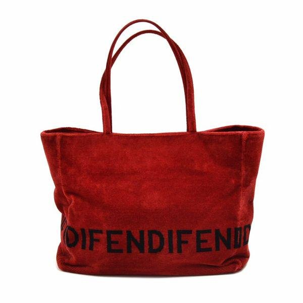 Authentic Fendi Vintage Red Velvet Tote Bag
