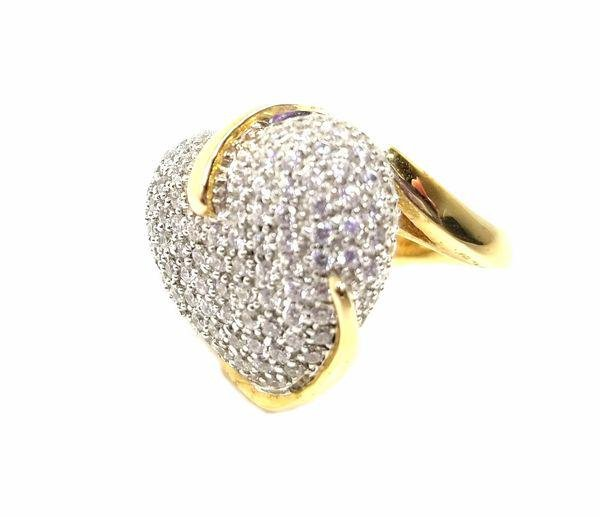 Sonia B CZ 925 Silver Heart Ring Size 7.5