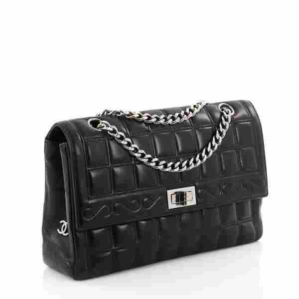 Chanel Black Lambskin Medium Mademoiselle Shoulder Bag