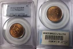 1905 Philippines 1 c PCGS MS 64