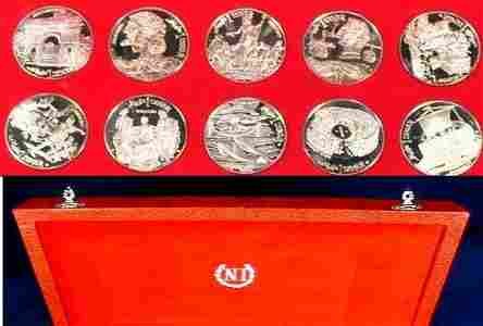 Rare 1969 Tunisia Large Silver Proof 10 coin