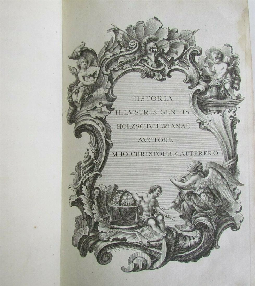 1755 ILLUSTRATED ANTIQUE FOLIO Historia Genealogica
