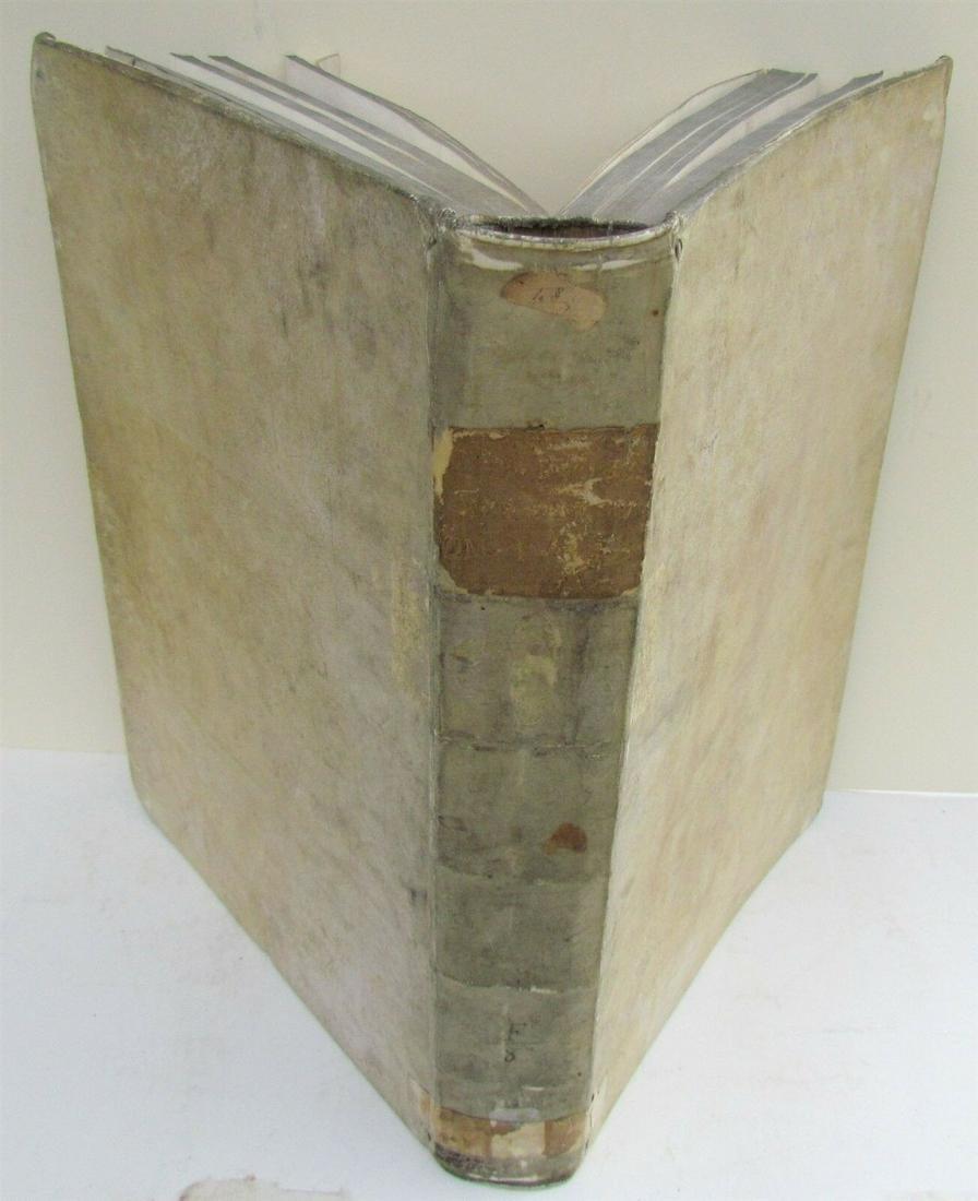 1737 VELLUM BOUND ANTIQUE FOLIO S. AURELII AUGUSTINI by