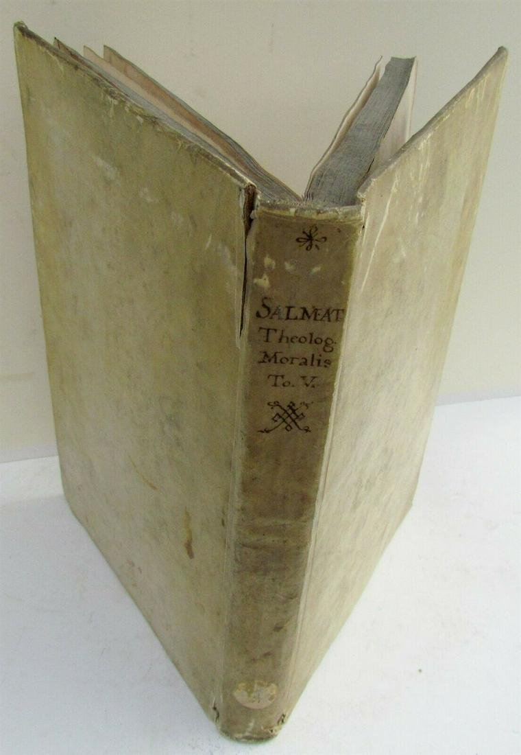1715 VELLUM BOUND ANTIQUE FOLIO COLLEGII SALMANTICENSIS