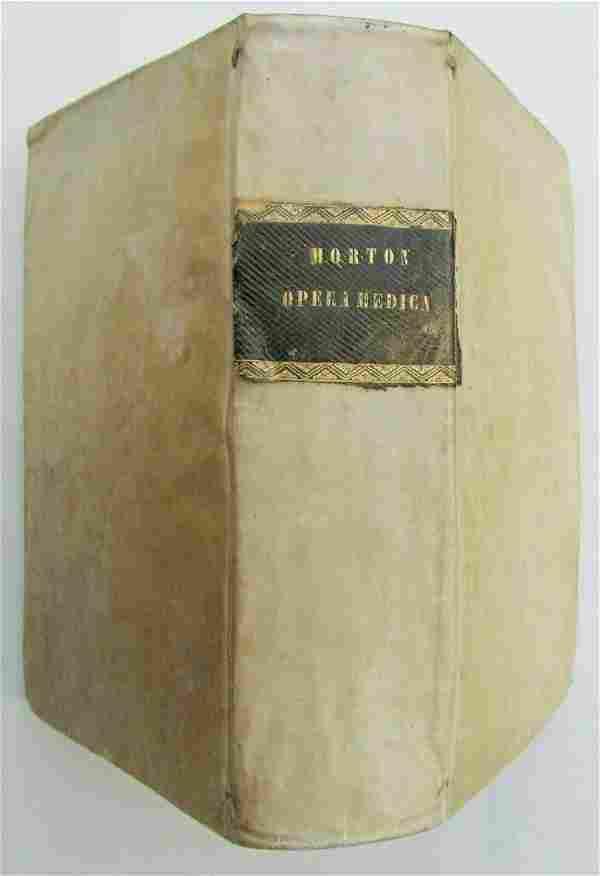 1733 VELLUM BOUND OPERA MEDICA by RICHARDI MORTON