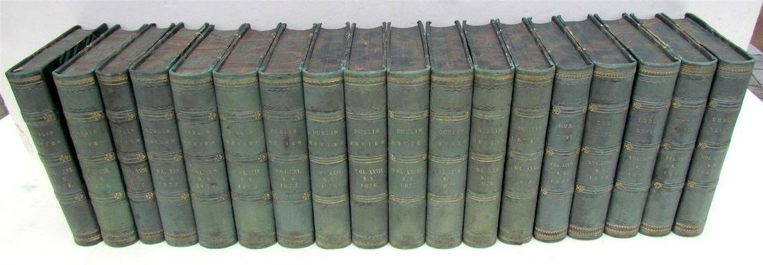 1871-1880 DECORATIVE BINDINGS 18 VOLUMES LOT ANTIQUE