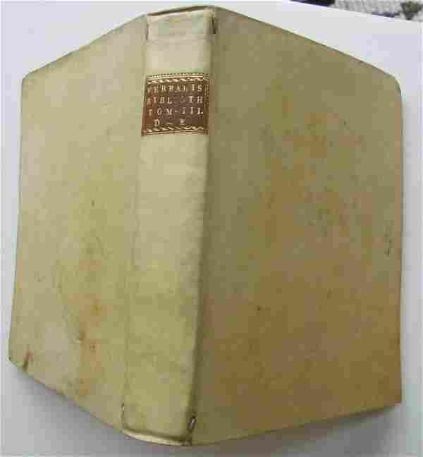 1782 VELLUM BOUND ANTIQUE BOOK by LUCII FERRARIS Vol.