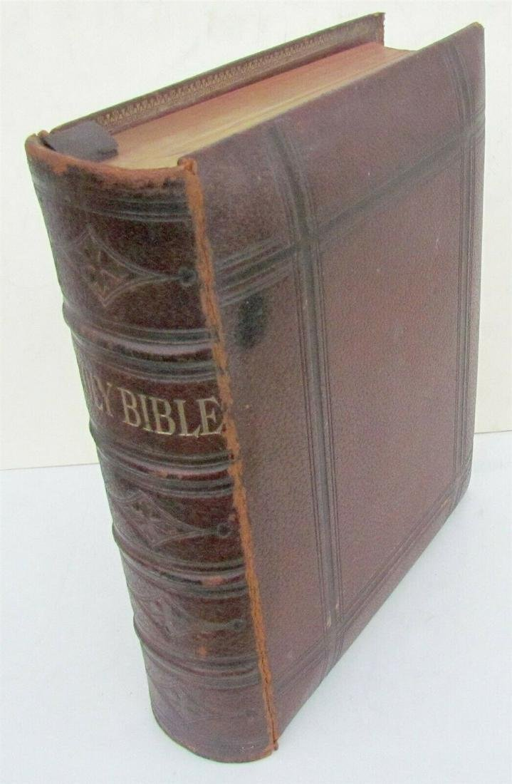 1884 BIBLE printed in PHILADELPHIA MASSIVE FOLIO