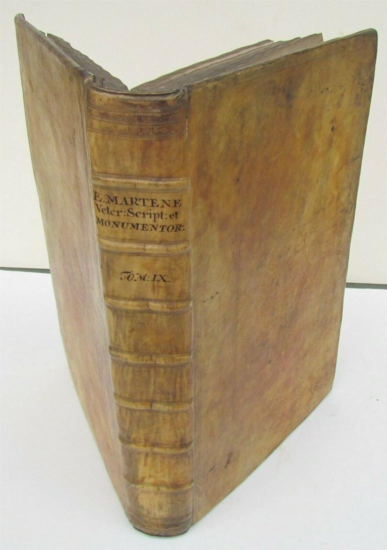 1733 VELLUM BOUND FOLIO Veterum scriptorum et