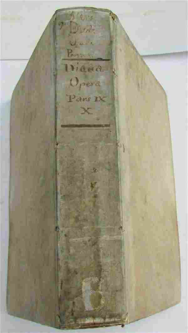 1650 VELLUM BOUND ANTIQUE FOLIO Antonini Diana