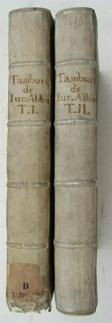 1615 VELLUM BINDING 2 VOL. FOLIOS D.ASCANII TAMBURINII