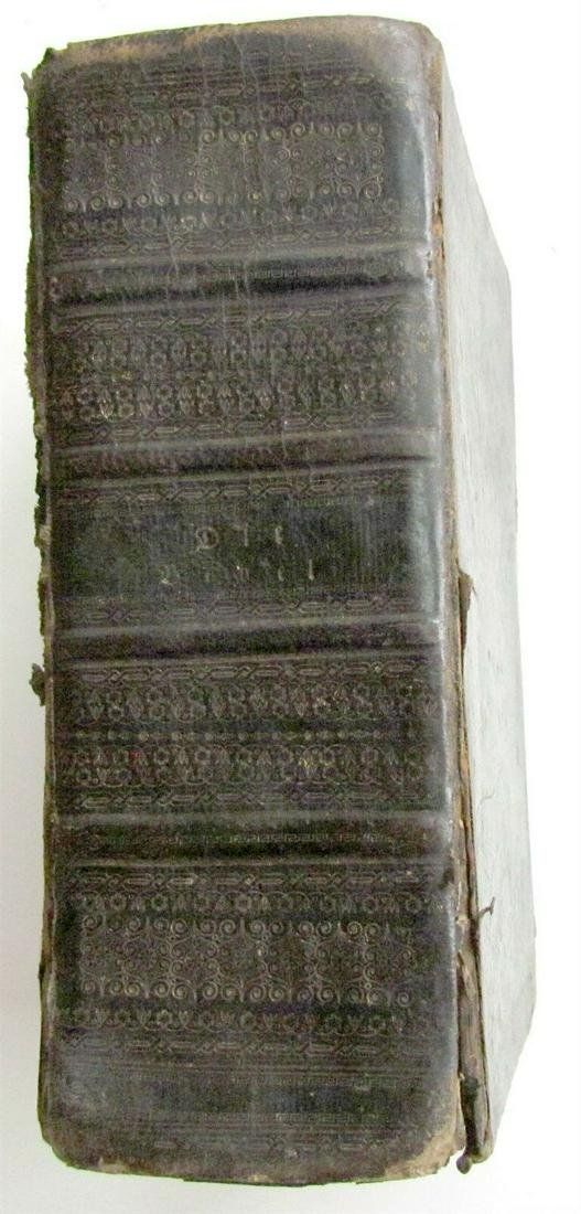 1825 BIBLE ILLUSTRATED ANTIQUE in GERMAN OLD & NEW