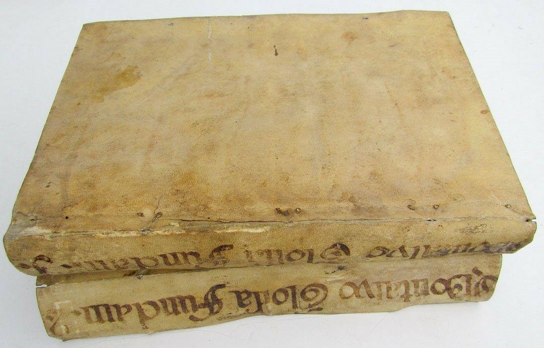 1740 2 VOLUMES VELLUM BOUND ANTIQUE FOLIOS FRANCISCAN