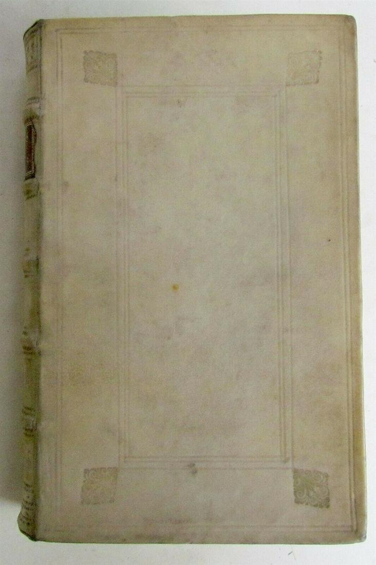 1696 POETRY AONII PALEARII VERULANI OPERA BLIND-STAMPED