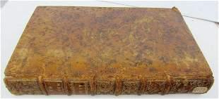 1753 ANTIQUE LUS ECCLESIASTICUM UNIVERSUM LARGE LEATHER