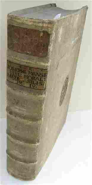 1703 BLINDSTAMPED PIGSKING BOUND ANTIQUE FOLIO by