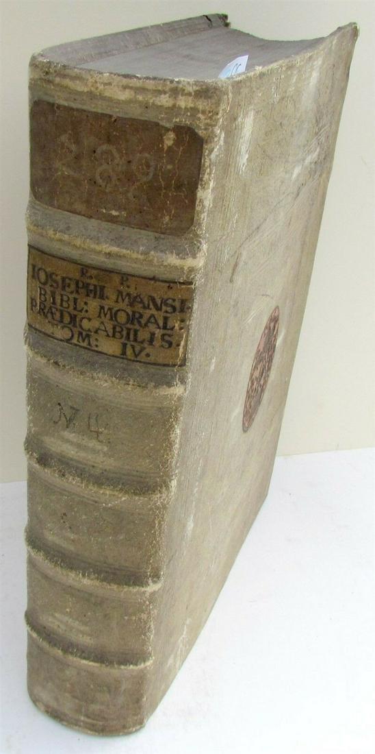 1703 BLIND-STAMPED PIGSKING BOUND ANTIQUE FOLIO by