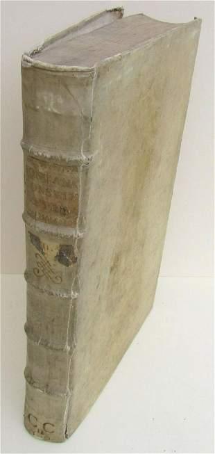 1724 ANTIQUE VELLUM BOUND FOLIO Clementis Papae XI