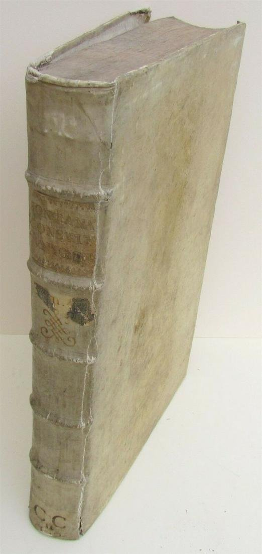 1724 ANTIQUE VELLUM BOUND FOLIO Clementis Papae XI