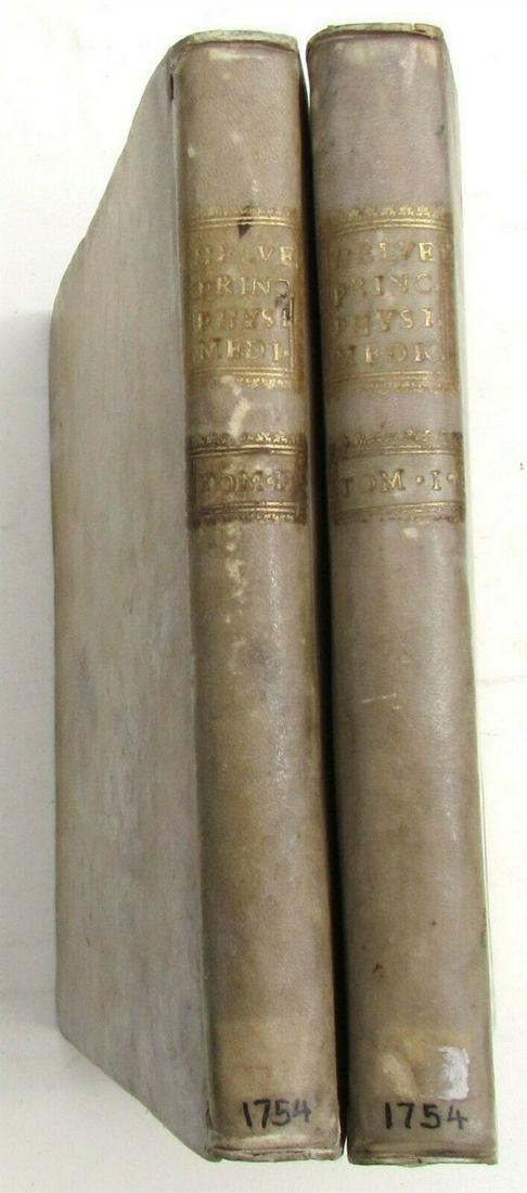 1754 2 vol. PRINCIPIA PHYSIO-MEDICA Jean Claude