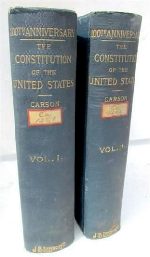 1889 2 VOLUMES US CONSTITUTION 100th ANNIVERSARY
