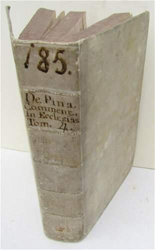1646 VELLUM BINDING MASSIVE FOLIO ANTIQUE JESUIT