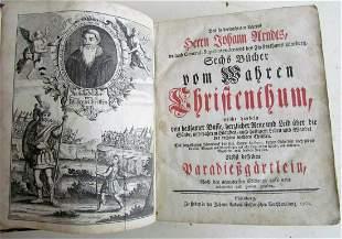 1762 GERMAN ILLUSTRATED Wahres Christentum