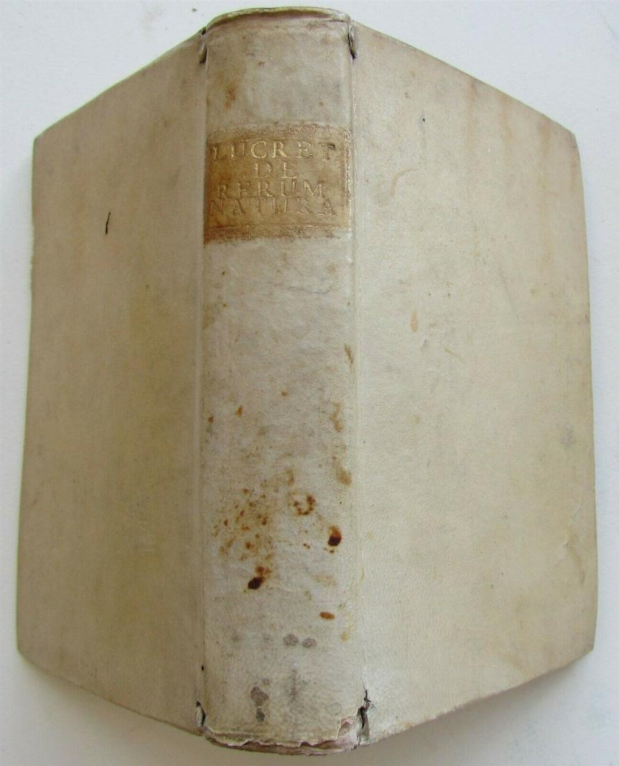 1751 VELLUM BOUND TITI LUCRETII CARI DE RERUM NATURA