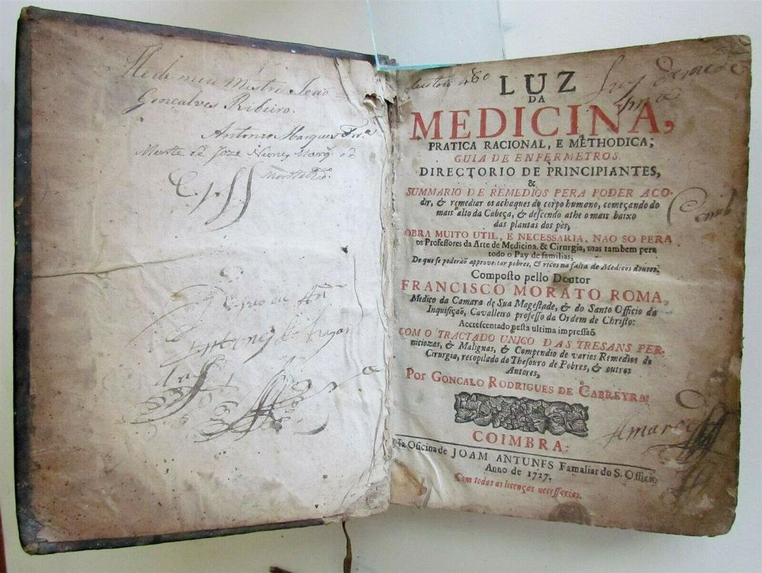1727 MEDICAL BOOK LUZ DA MEDICINA PRATICA RACIONAL E