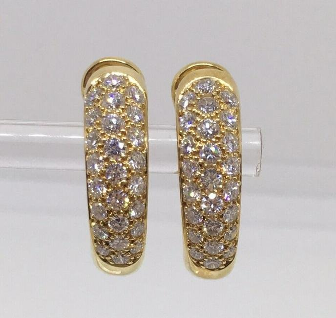 Cartier 18K Yellow Gold Mimi Diamond Huggies Earrings