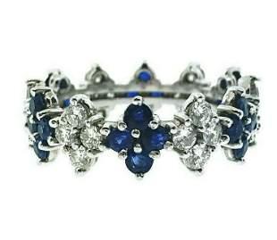 240 ct Sapphire Round Brilliant Diamond Eternity