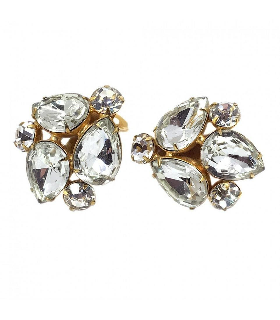 KJL Clear Rhinestone Earrings