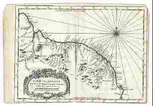 1757 Jacques Bellin Map Carte De La Guyane