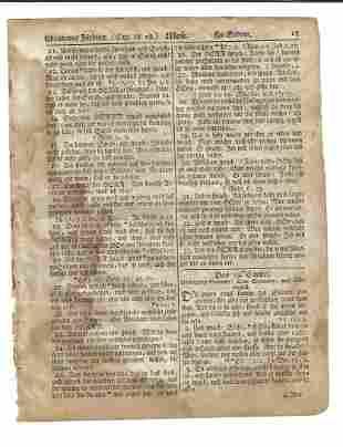 1776 Saur GunWad Bible Leaf Revolutionary War