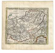 1725 Hand Colored Map Grand Tartarie