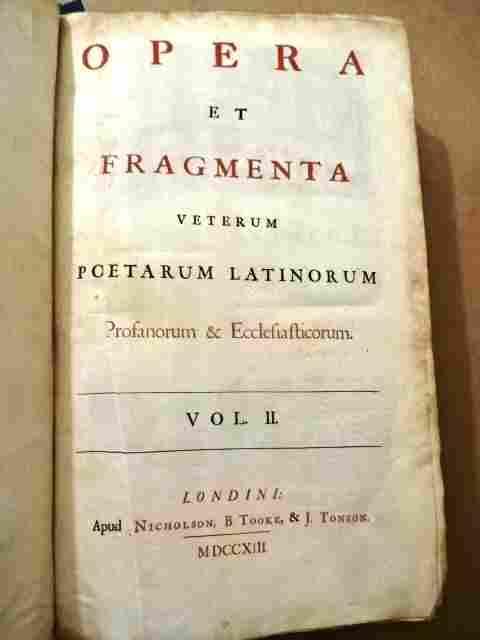 1713 Leather Latin Poetry Folio