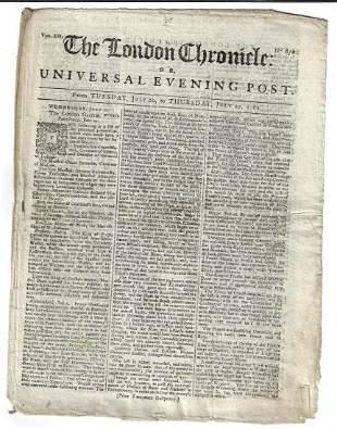 1762 London Chronicle Newfoundland